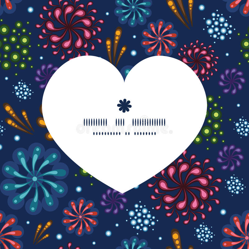 Картина силуэта сердца фейерверков праздника вектора бесплатная иллюстрация