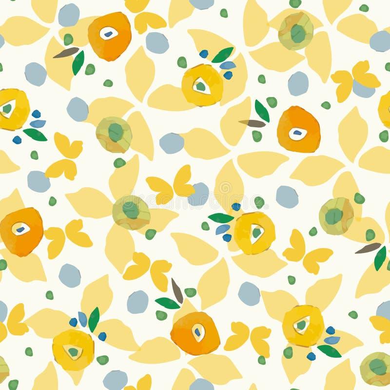 Картина сливк с butterfy красочными точками иллюстрация штока