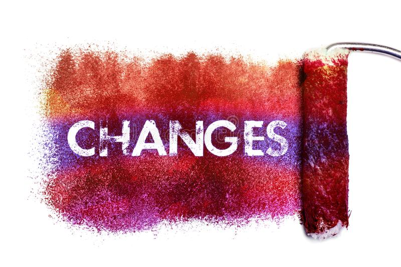 Картина слова изменений иллюстрация штока