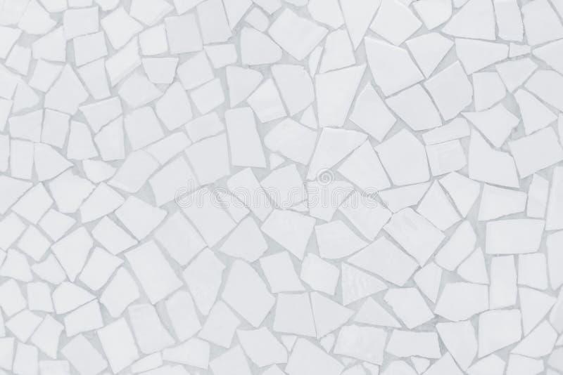 Картина сломленной мозаики плиток безшовная Белый и серый фото или кирпич безшовные и текстура высокого разрешения стены плитки р стоковое изображение
