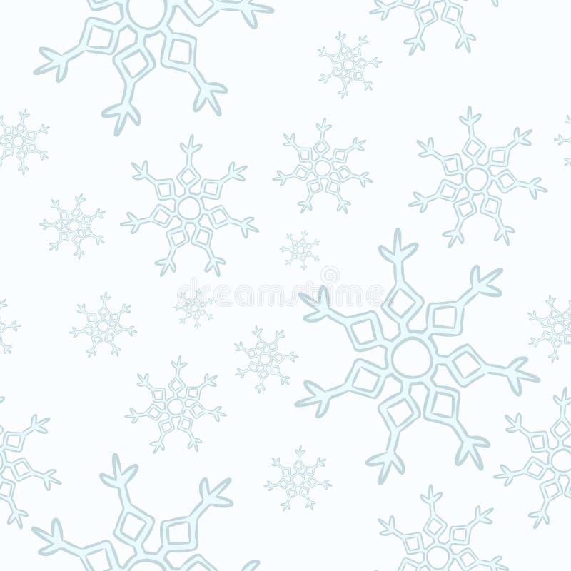 Картина снежинок безшовная Украшение вектора мультфильма зимы иллюстрация вектора