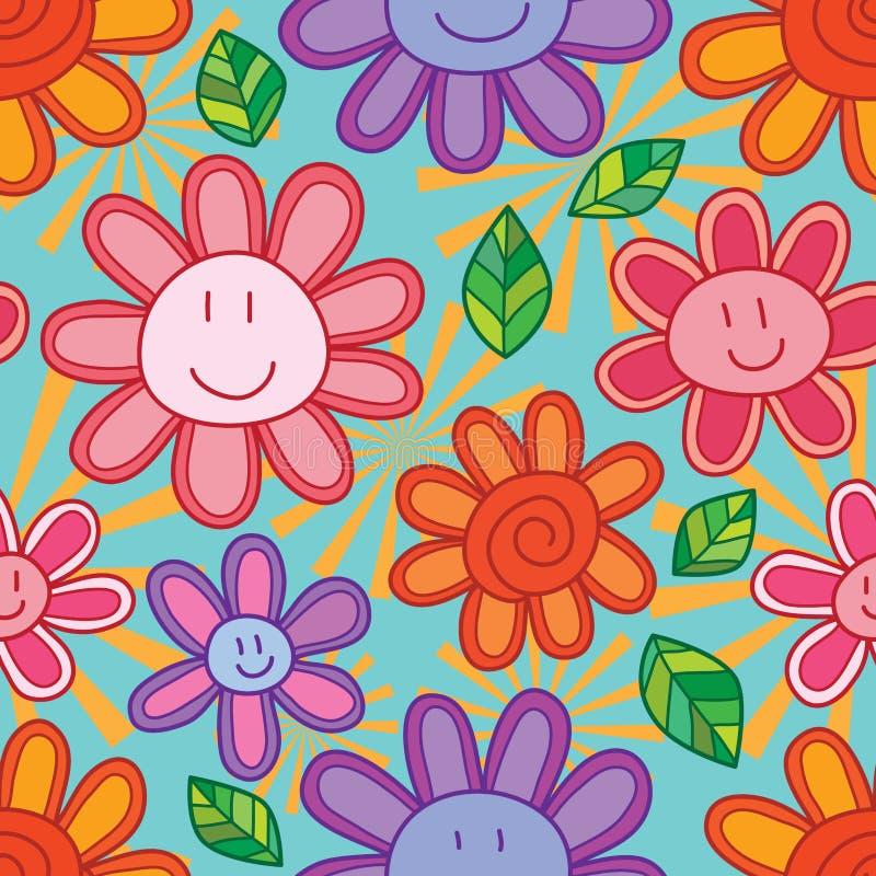 Картина солнца цветка милая безшовная иллюстрация штока