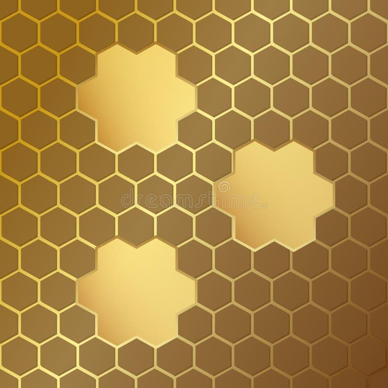 Картина сота с рамками также вектор иллюстрации притяжки corel Текстура шестигранной ячейки конструируйте геометрическое Современ иллюстрация штока