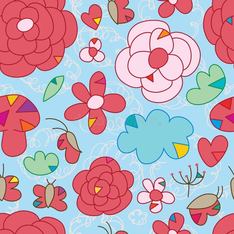 Картина спички треугольника бабочки цветка безшовная бесплатная иллюстрация