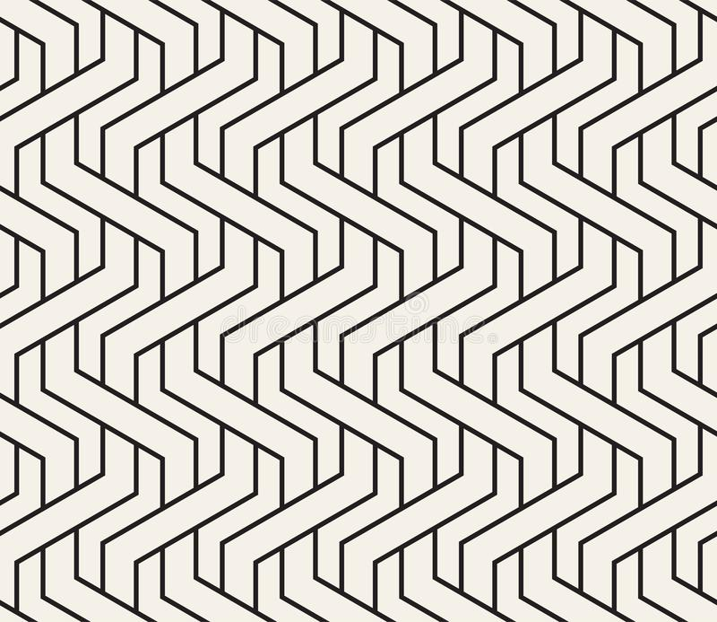 Картина сплетенная вектором безшовная Стильная вплетая текстура Декоративные геометрические переплетенные линии иллюстрация вектора