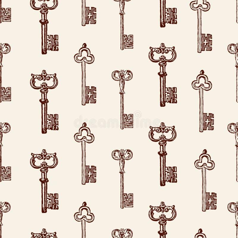Картина старых ключей иллюстрация вектора