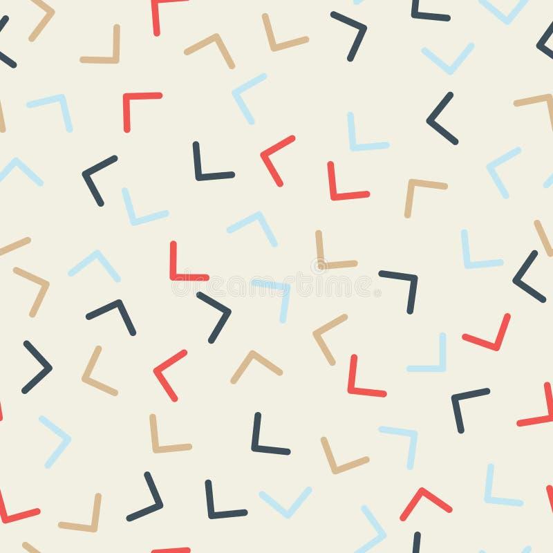 Картина стиля Мемфиса безшовная Углы, повернули в различные di бесплатная иллюстрация