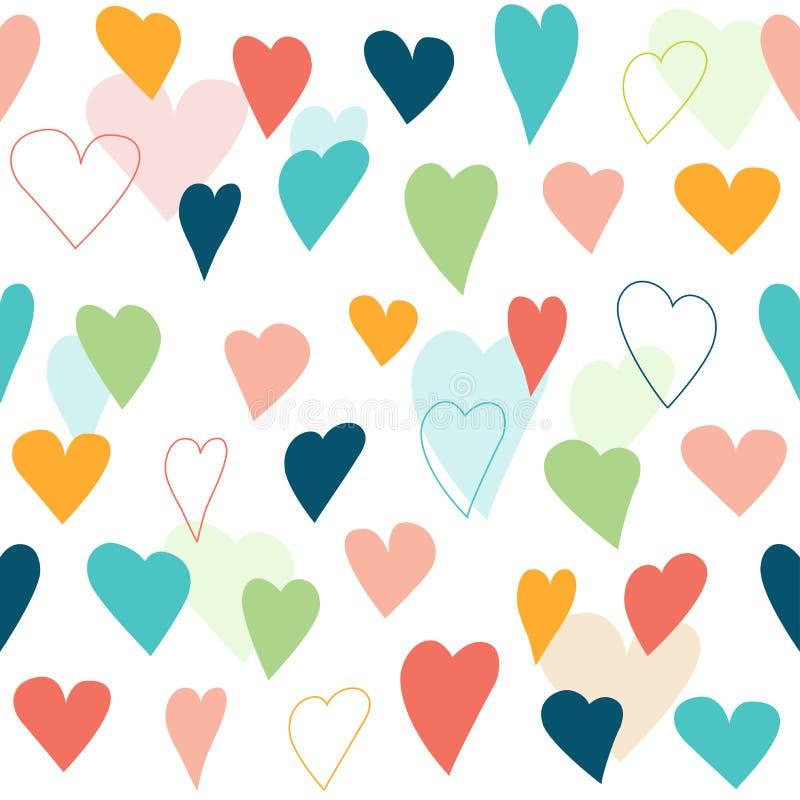 Картина стилизованного сердца безшовная иллюстрация штока