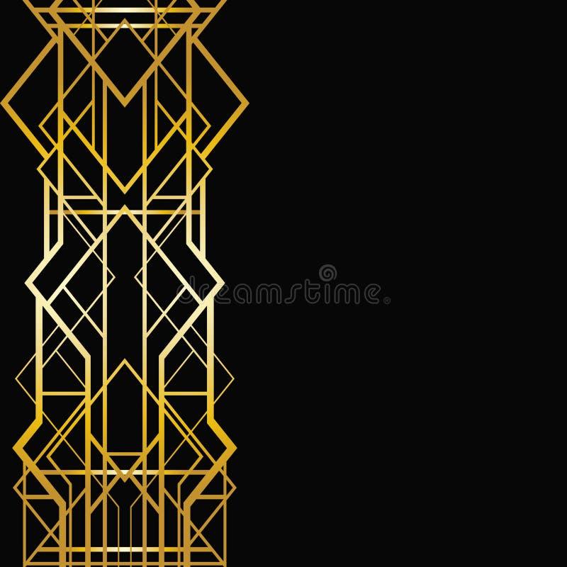 Картина стиля Арт Деко геометрическая иллюстрация штока