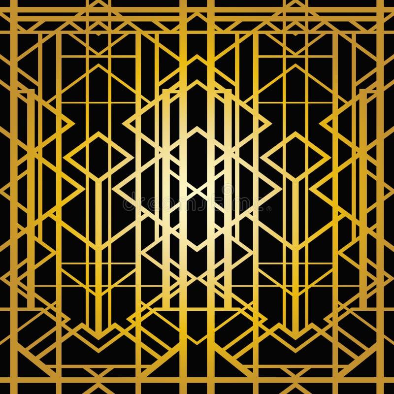 Картина стиля Арт Деко геометрическая иллюстрация вектора