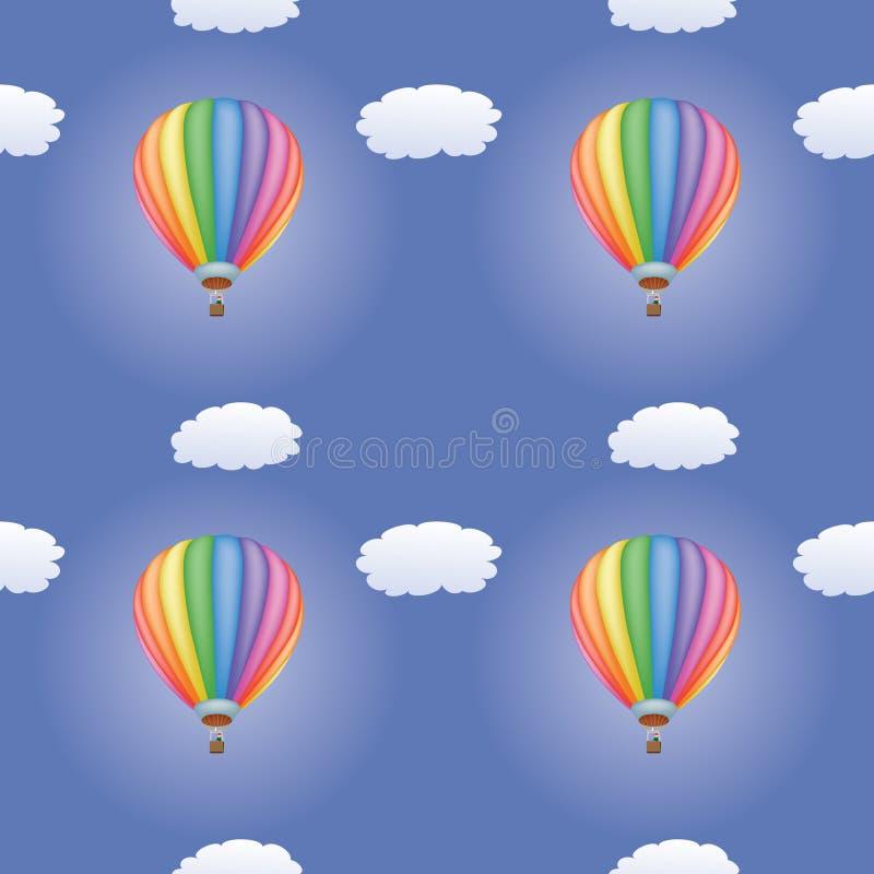 Download Картина с горячими воздушными шарами Иллюстрация вектора - иллюстрации насчитывающей airbrush, текстура: 33735840