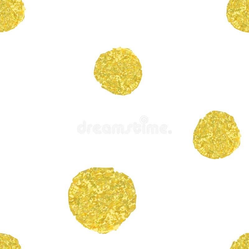 Картина с кругами золота иллюстрация вектора
