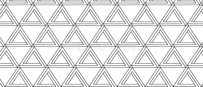 Картина с невозможным треугольником с черными линиями иллюстрация вектора