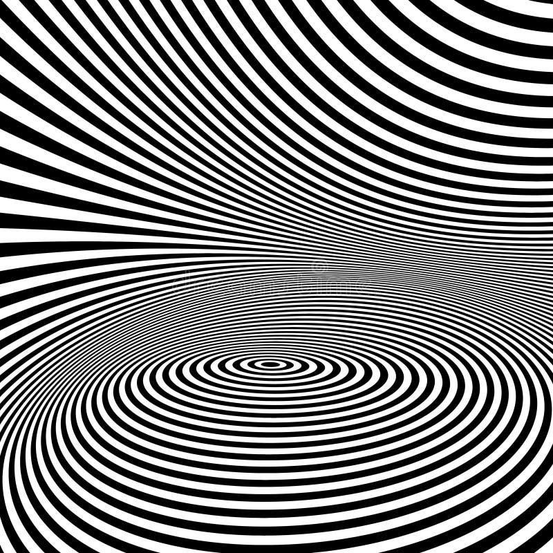 Картина с обманом зрения черная белизна иллюстрация штока