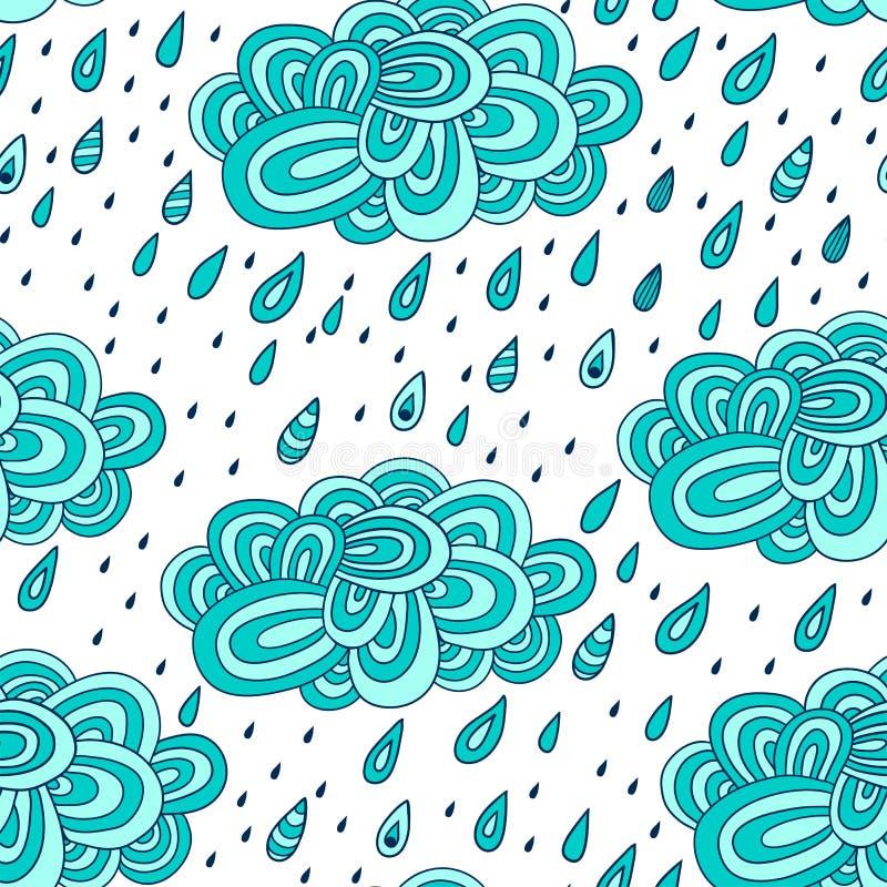 картина с облаками, дождь, картина дня осени, doodles бесплатная иллюстрация