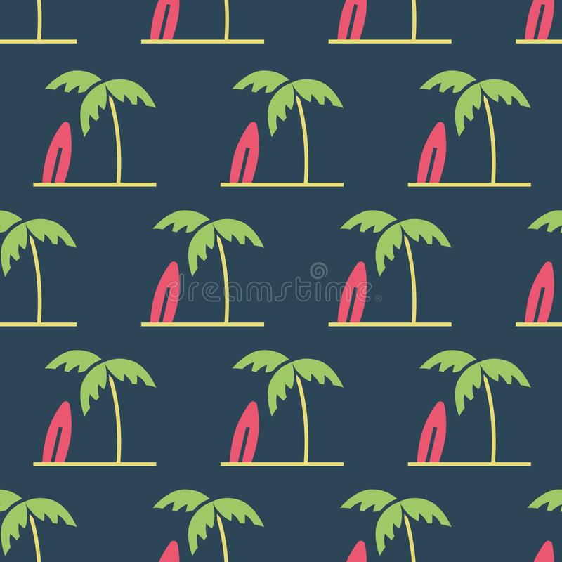 Простая иллюстрация вектора со способностью изменить Картина с пальмами иллюстрация вектора