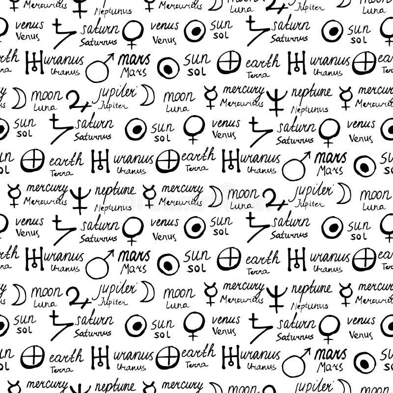 Картина с символами алхимии иллюстрация штока