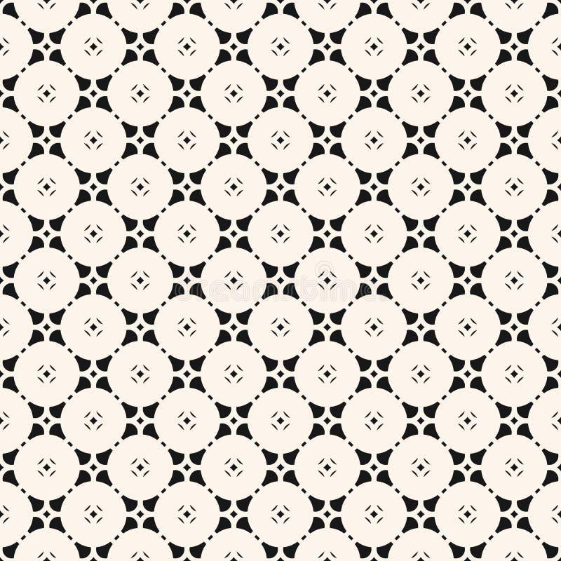 Картина с флористическими формами, круглая решетка вектора monochrome геометрическая безшовная, сеть иллюстрация вектора