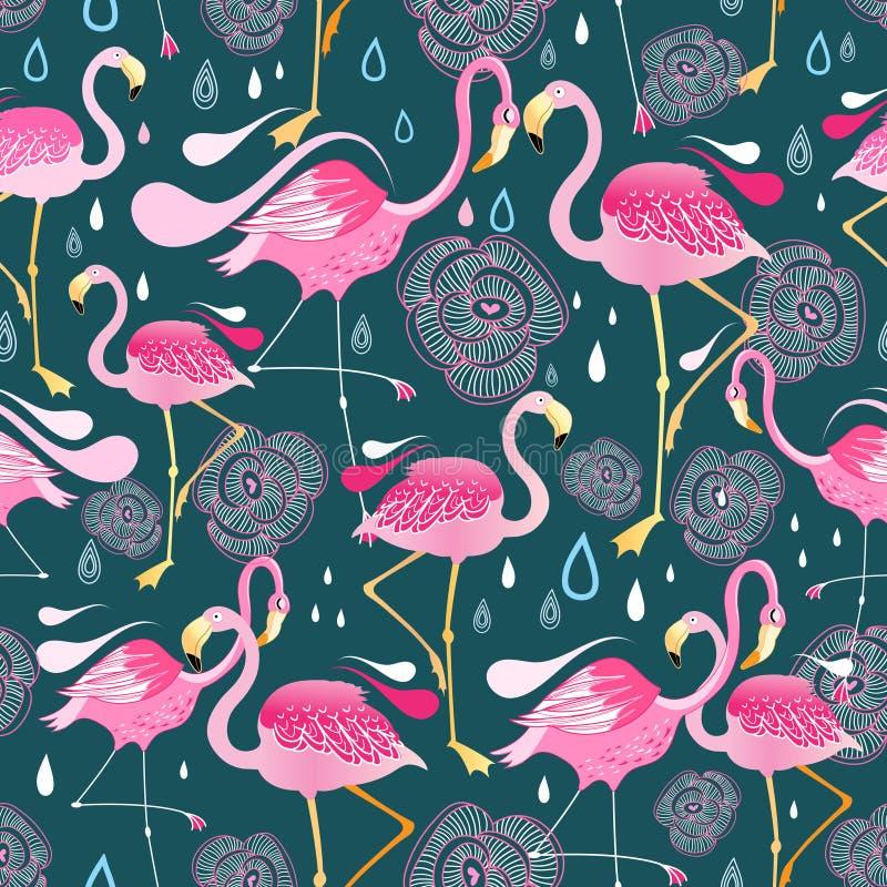 Картина с фламинго бесплатная иллюстрация