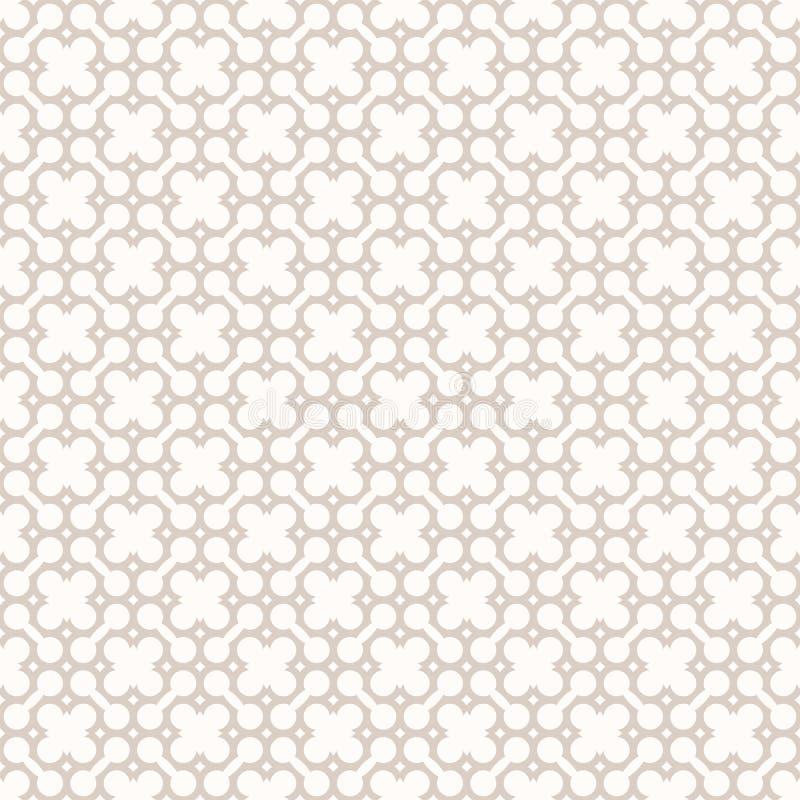 Картина с чувствительной решеткой, решетка тонкого вектора безшовная Бежевый и белый бесплатная иллюстрация