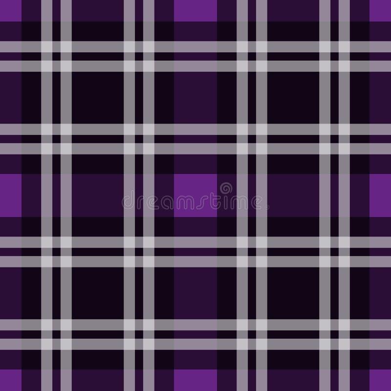 Картина тартана, шотландская традиционная ткань безшовная Фиолетовый и ультрафиолетов на фиолетовой предпосылке, стиле Pantone бесплатная иллюстрация