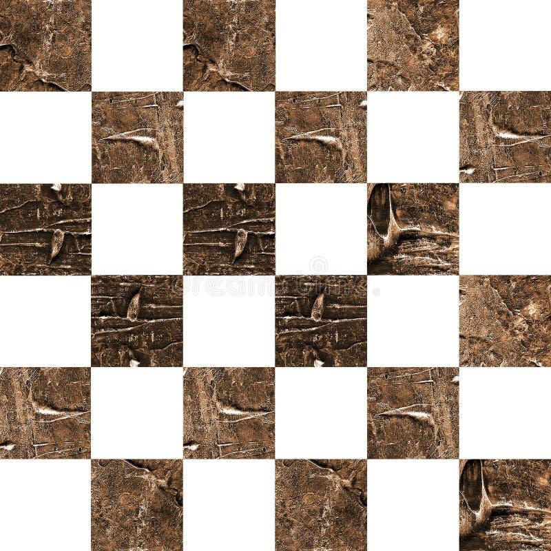 Картина текстурированная Grunge абстрактная checkered безшовная стоковое изображение