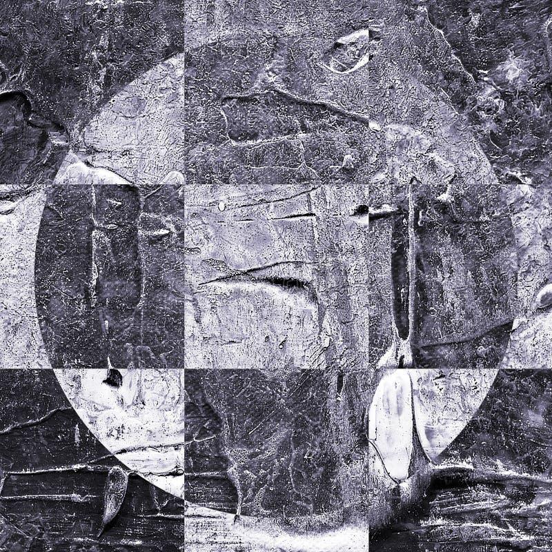 Картина текстурированная Grunge абстрактная checkered стоковое изображение
