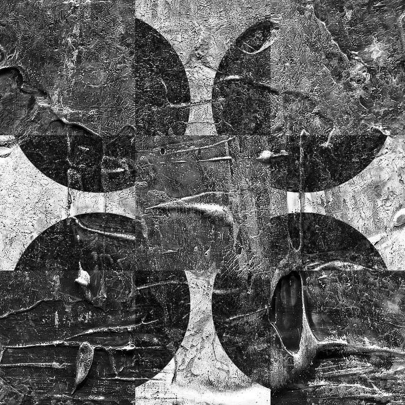 Картина текстурированная Grunge абстрактная checkered стоковые изображения rf
