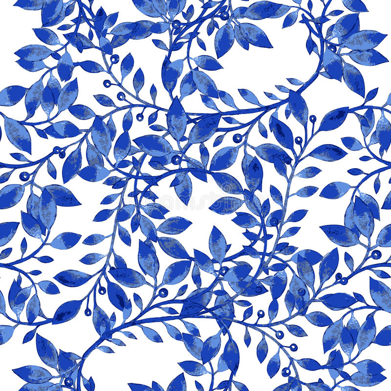 Картина текстуры акварели вектора голубая иллюстрация вектора