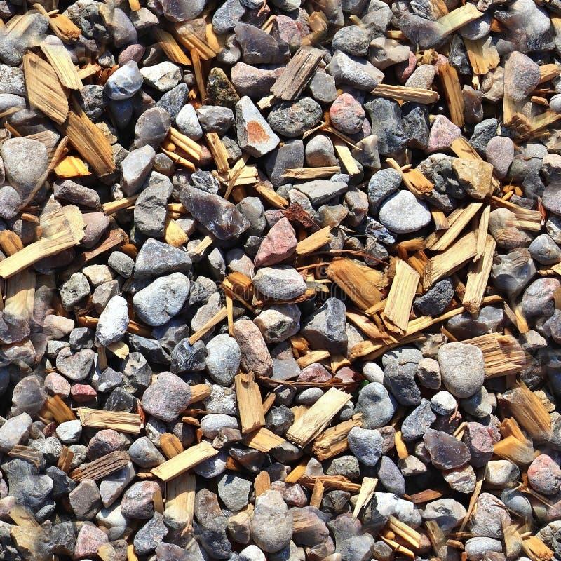 Картина текстуры фото реалистическая seemless земель гравия и камешка стоковые изображения rf