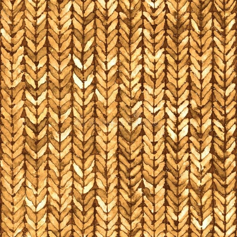 Картина текстуры knit акварели безшовная иллюстрация вектора