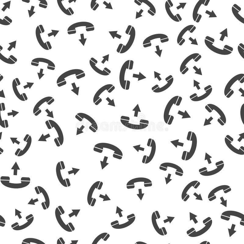 Картина телефона бесконечная Картина вектора безшовная на белой предпосылке бесплатная иллюстрация