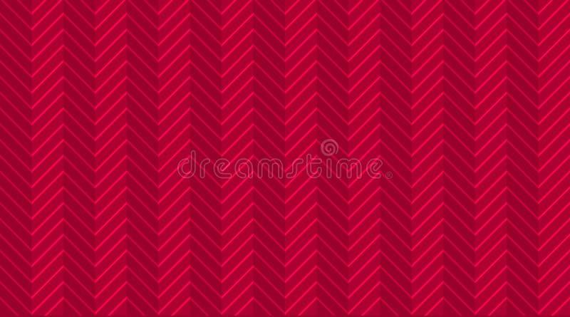 Картина темно-красного бургундского зигзага шеврона безшовная со светлыми праздничными линиями Обои шаблона полутонового изображе бесплатная иллюстрация