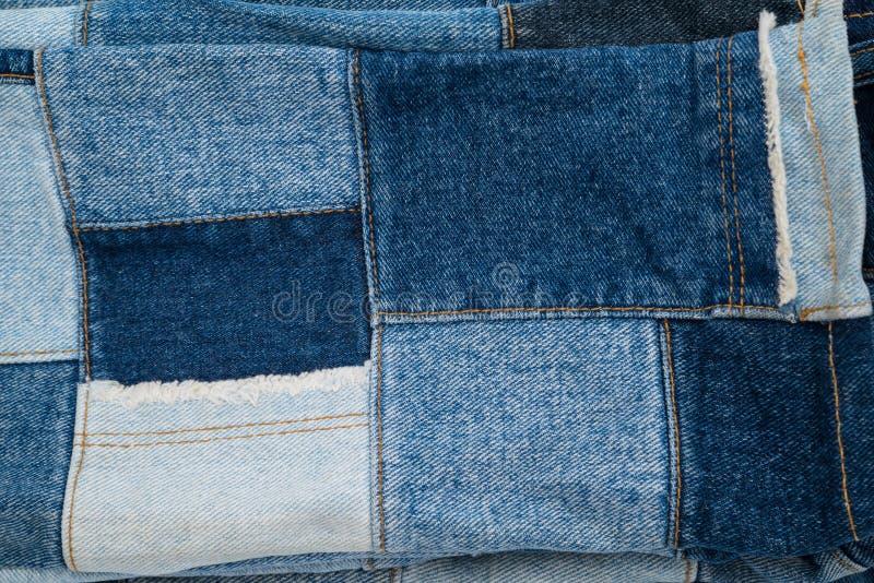 Картина ткани заплатки джинсовой ткани стоковые фотографии rf