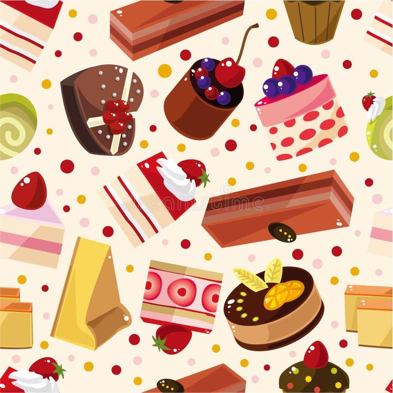 картина торта безшовная бесплатная иллюстрация