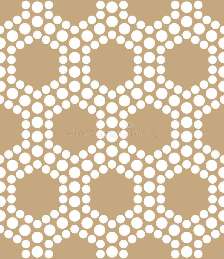 Картина точек шестиугольника дизайна треугольника абстрактного золота геометрическая бесплатная иллюстрация