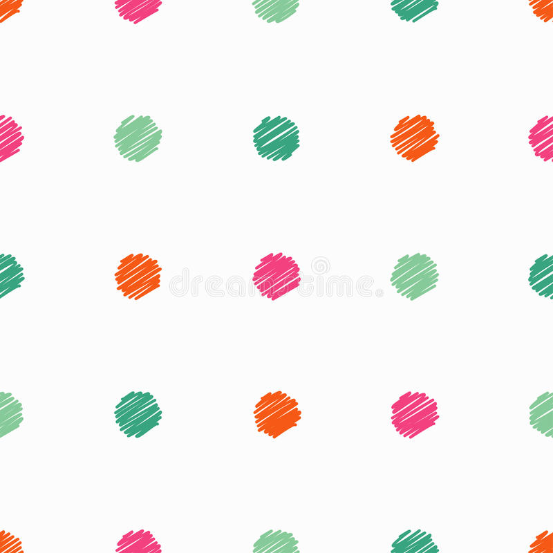 Картина точки польки безшовная Вышивка стежком сатинировки иллюстрация штока