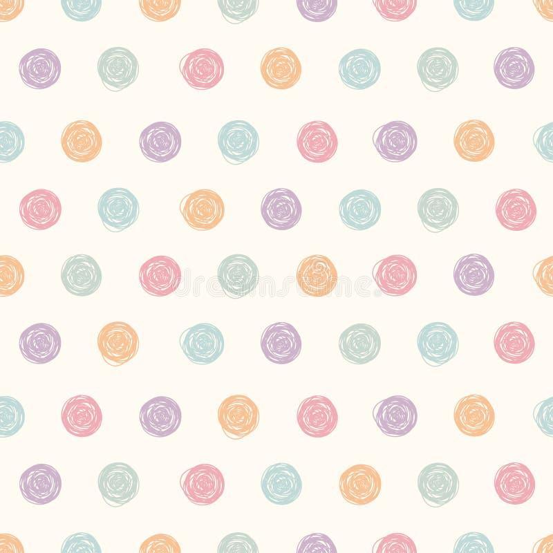 Картина точки польки вектора абстрактная безшовная иллюстрация штока