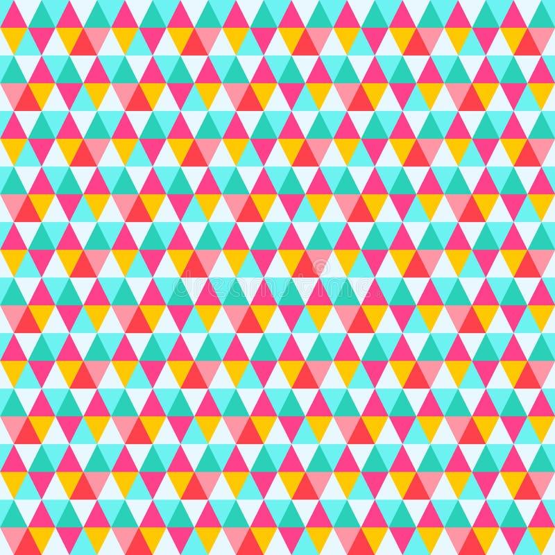 Картина треугольника безшовная Фон вектора конспекта ретро бесплатная иллюстрация