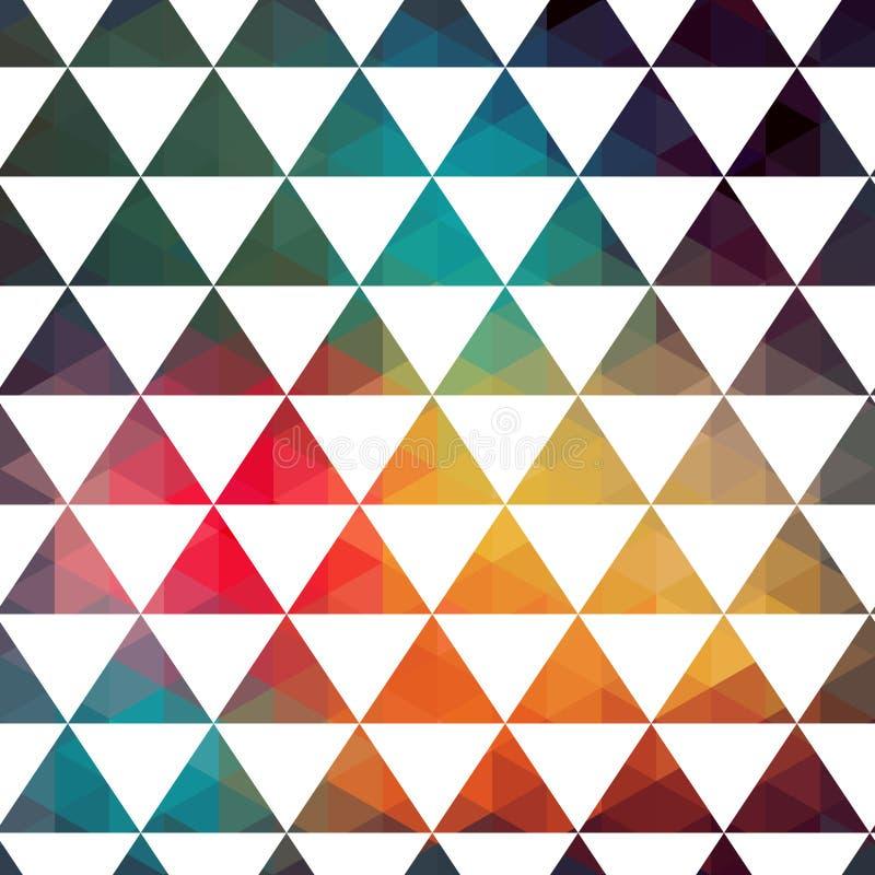 Картина треугольников геометрических форм. Красочный фон мозаики. иллюстрация вектора