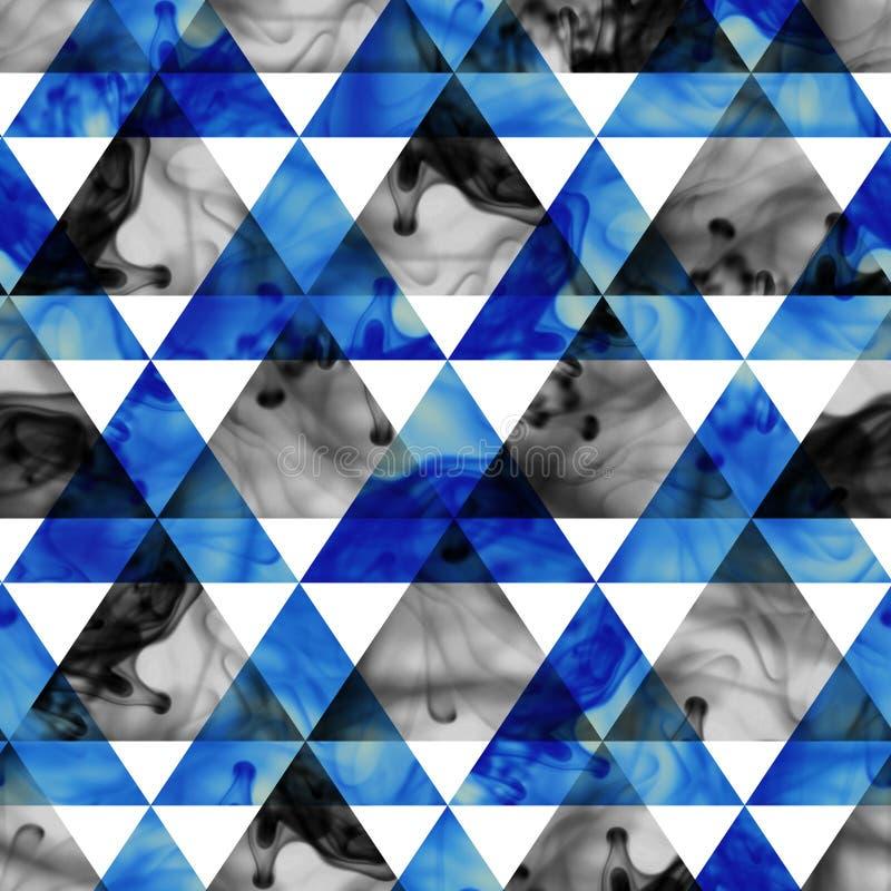 Картина треугольников чернил безшовная. Картина современного битника безшовная. бесплатная иллюстрация