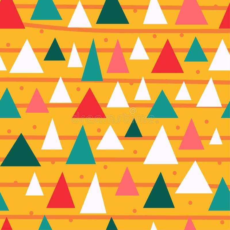 Картина триангулярных частей стильная безшовная иллюстрация вектора