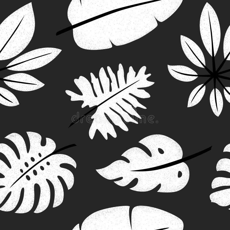Картина 4 тропических листьев иллюстрация штока