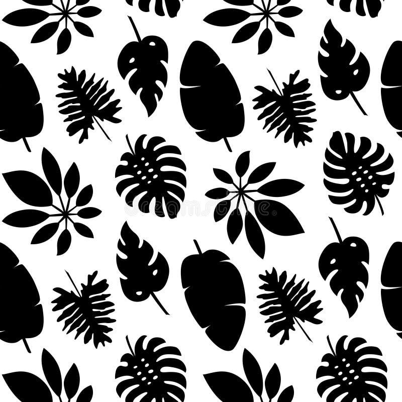 Картина 5 тропических листьев иллюстрация вектора