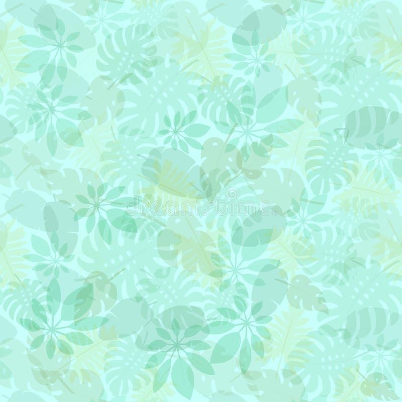 Картина 3 тропических листьев иллюстрация вектора