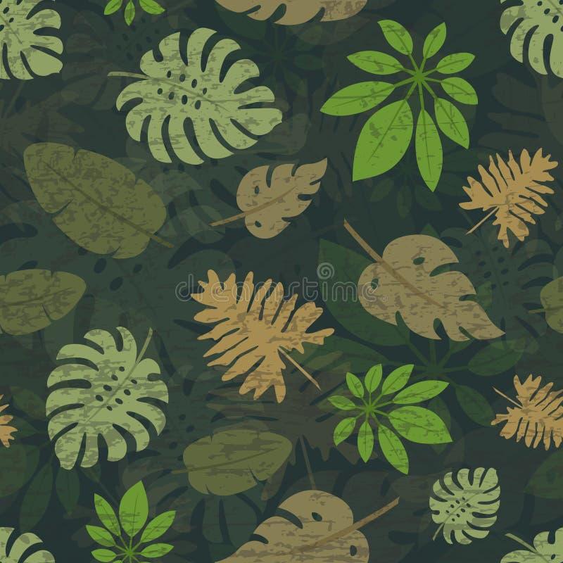 Картина 6 тропических листьев иллюстрация вектора
