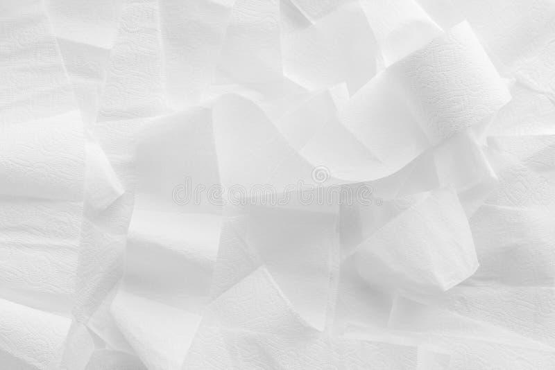 Картина туалетной бумаги для дизайна проктологии на белом взгляде сверху предпосылки стоковое изображение