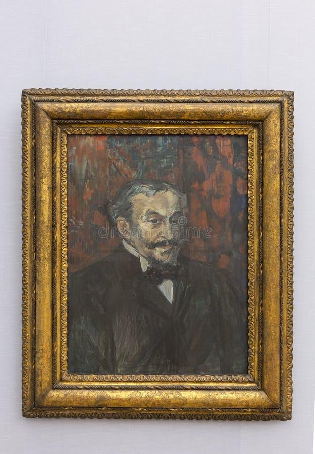 Картина Тулуза-Lautrec в Neu Pinakothek в Мюнхене стоковая фотография rf