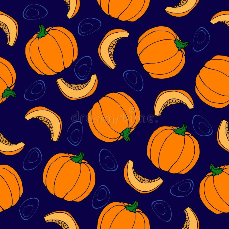 Картина тыквы безшовная background card congratulation invitation зрелый овощ бесплатная иллюстрация