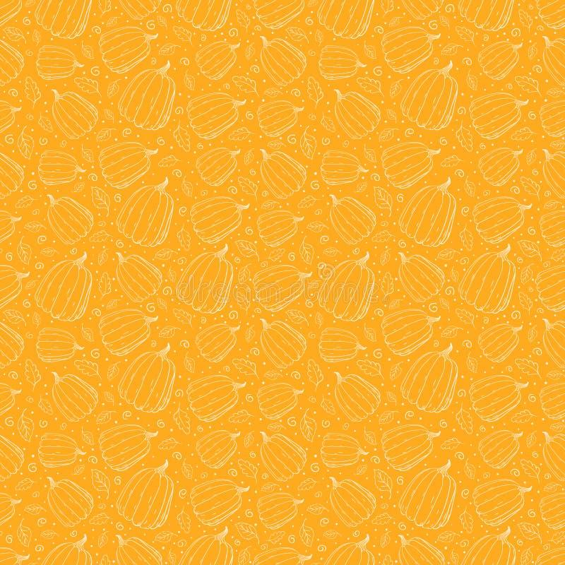 Картина тыкв безшовная иллюстрация штока